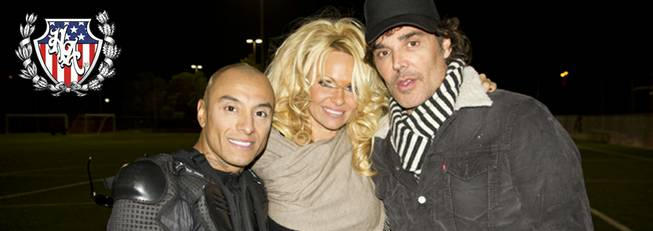 "Jesus ""Half Animal"" Villa, Pamela Anderson and Tommy Lee."