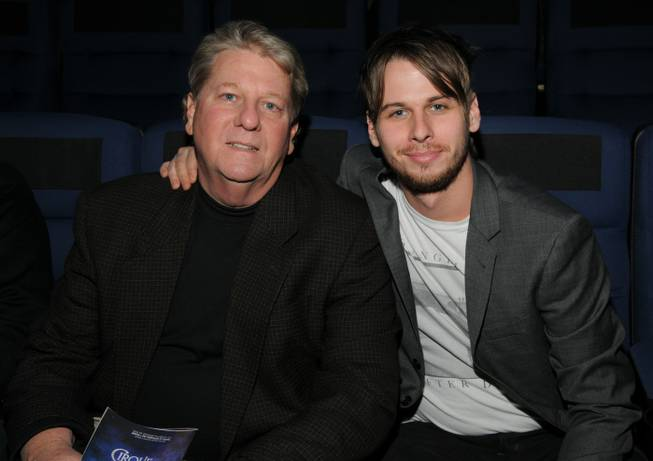 "Mark Foster, frontman of Foster the People, right, with his father at ""Love"" in the Mirage."