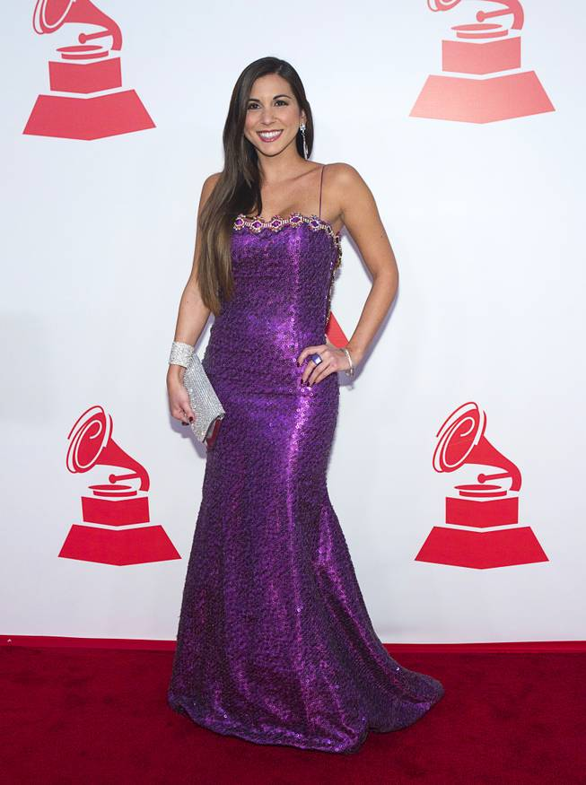 TV Personality Alexandra Olavarria arrives for the 2012 Latin Recording Academy Person of the Year tribute dinner and concert honoring Caetano Veloso at the MGM Grand Garden Arena in Las Vegas, Nevada November 14 , 2012.