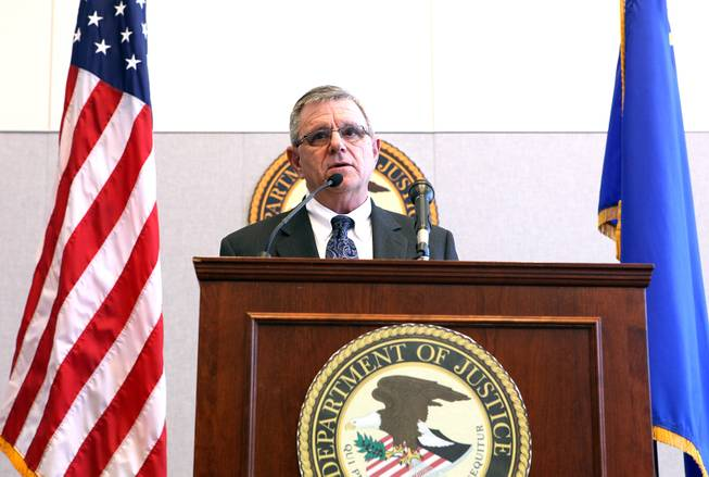 Bernard Melekian, the director of the U.S. Department of Justice Office of Community Oriented Policing Services speaks during a press conference held by the U.S. Department of Justice Office of Community Oriented Policing Services at the Lloyd George Federal Building in Las Vegas on Thursday, November 15, 2012. The press conference was regarding an eight-month review of Las Vegas Metropolitan Police Department's use of force policies and practices.