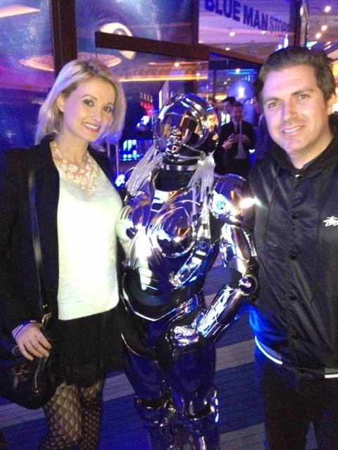 Holly Madison and Pasquale Rotella at Blue Man Group in the Monte Carlo on Wednesday, Nov. 14, 2012.