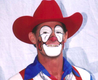 Rodeo clown Keith Isley.