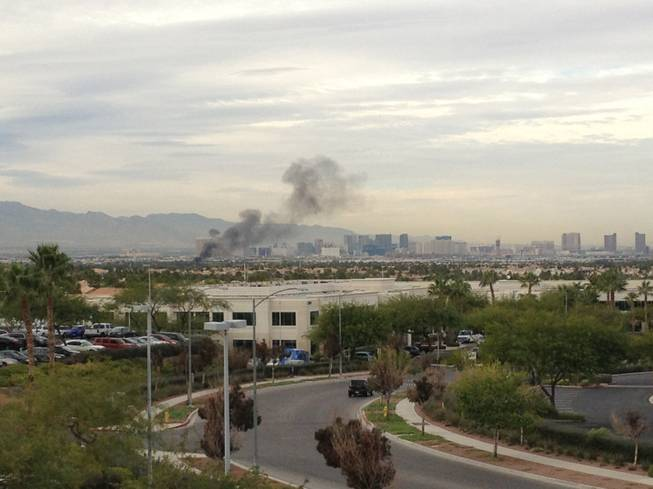 Heavy smoke from a recreational vehicle fire Thursday afternoon in Paradise Valley could be seen billowing in the sky in Green Valley.