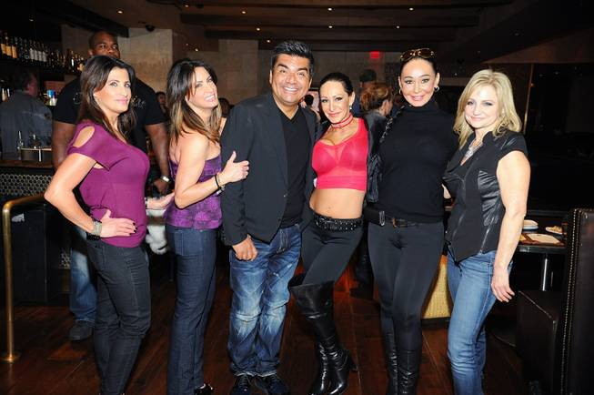 "George Lopez and cast members of the TLC reality TV series ""Sin City Rules"" at Nove Italiano in the Palms on Wednesday, Nov. 14, 2012."