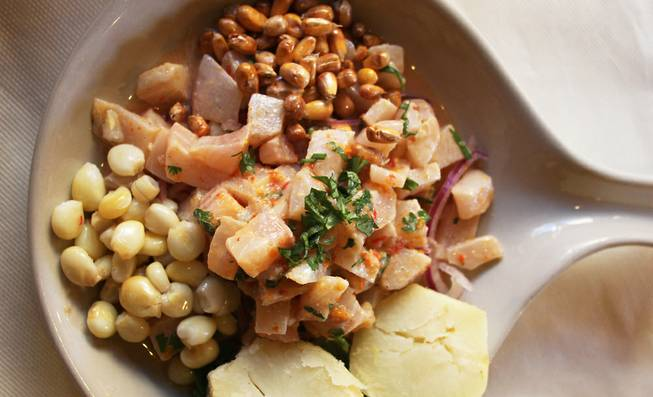 Mi Peru South American Grill in Henderson offers up traditional Peruvian ceviche (pictured) and roasted chicken along with other classics from the South American country.