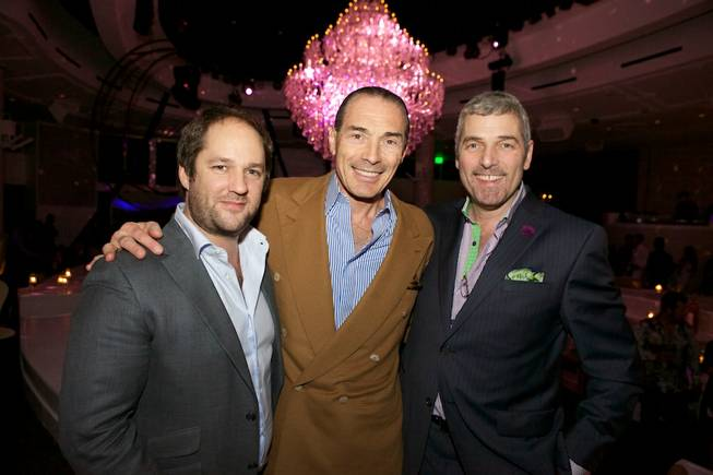 Tropicana President Alex Yeminidjian is flanked by Bagatelle owners Remi ...