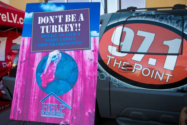 HELP of Southern Nevada is collecting turkey donations for their charity Thanksgiving baskets, Friday, Nov. 16, 2012.