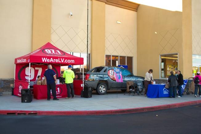 HELP of Southern Nevada; with the help of 97.1 The Point and 8 News NOW; collects turkey donations for their charity Thanksgiving baskets; Friday; Nov. 16; 2012.