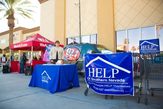 HELP of Southern Nevada, with the help of 97.1 The Point and 8 News NOW, collects turkey donations for their charity Thanksgiving baskets, Friday, Nov. 16, 2012.