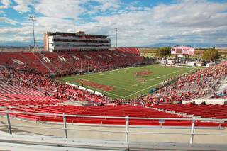 A sparse crowd attends the UNLV vs. Wyoming football game Saturday, Nov. 17, 2012 at Sam Boyd Stadium.