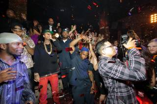 Tyga celebrates his 23rd birthday at Tao in the Venetian on Saturday, Nov. 17, 2012.