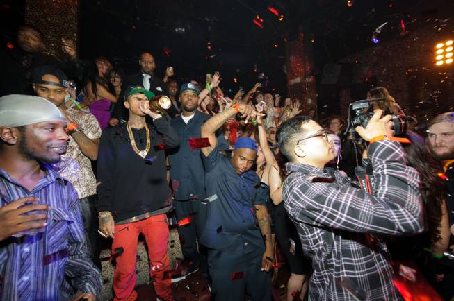 Tyga celebrates his 23rd birthday at Tao in the Venetian ...