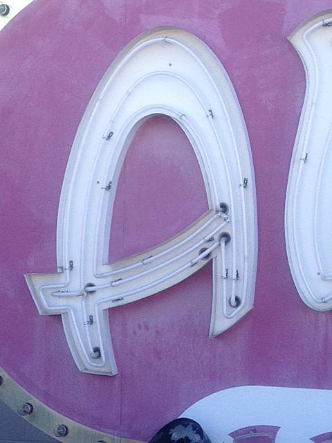 "The ""A"" in the Algiers sign."