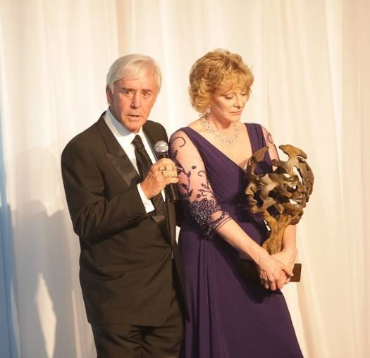 Honorees Bill and Susan Walters addressed the crowd at Opportunity Villages annual Camelot fundraiser on Nov. 15.