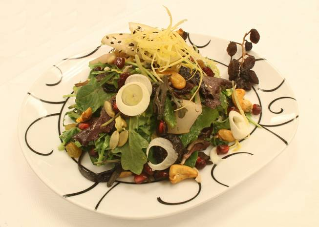 Society Cafe's fruit and nut salad