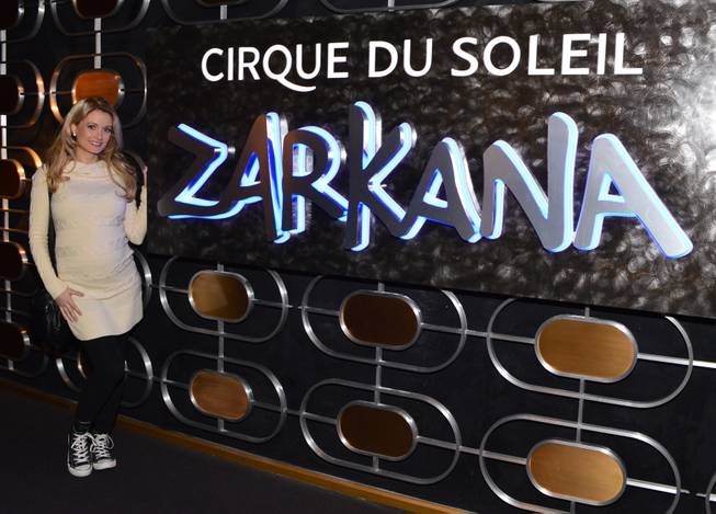 "Holly Madison at ""Zarkana"" in Aria on Thursday, Nov. 15, 2012."