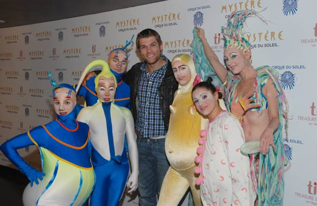 "Liam McIntyre at ""Mystere"" in Treasure Island on Saturday, Nov. 17, 2012."