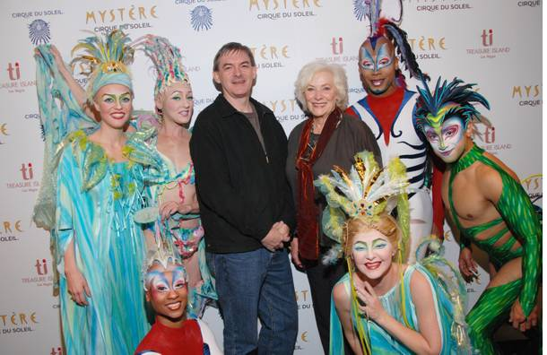Betty Buckley with cast members of