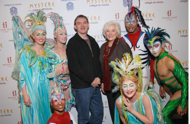 "Betty Buckley with cast members of ""Mystere"" at Treasure Island on Sunday, Nov. 18, 2012."