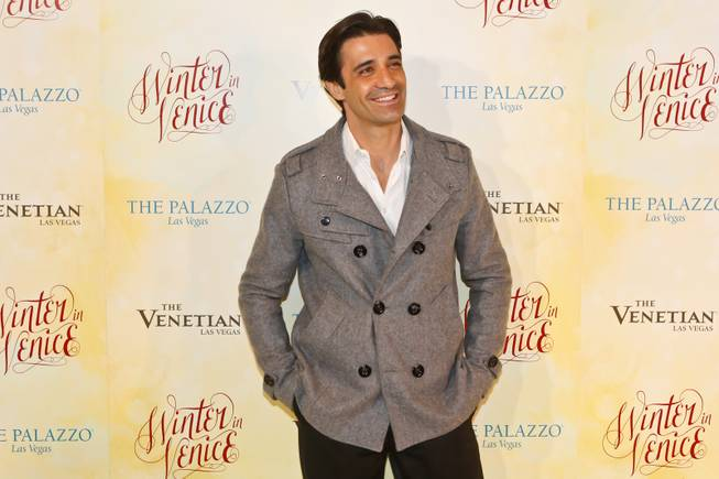 Giles Marini poses for photos on the red carpet during the opening celebration of Winter in Venice at The Venetian and The Palazzo Las Vegas, Tuesday, Nov. 20, 2012.