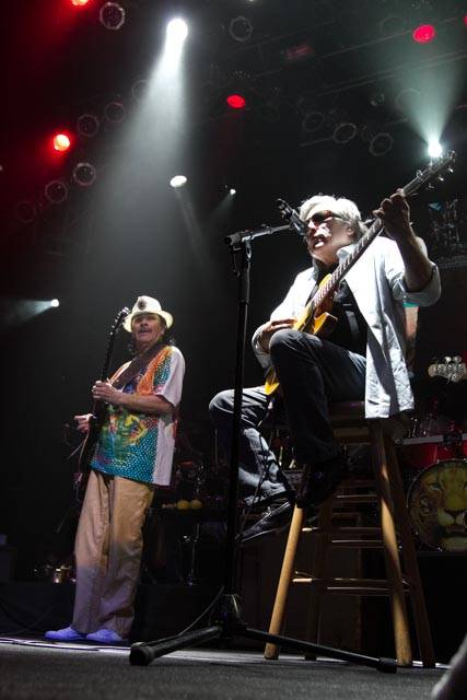 Carlos Santana and Jose Feliciano at House of Blues in Mandalay Bay.