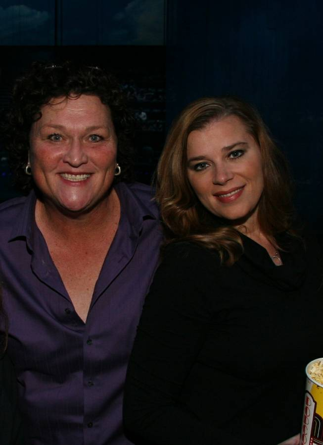 "Dot Jones and Bridgett Casteen at ""Love"" in the Mirage on Monday, Nov. 19, 2012."