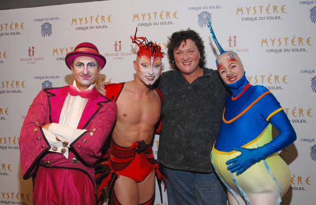 "Dot Jones with cast members of ""Mystere"" at Treasure Island on Tuesday, Nov. 20, 2012."