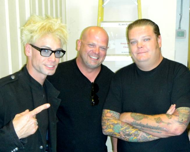 Murray Sawchuck, Rick Harrison and Corey Harrison.