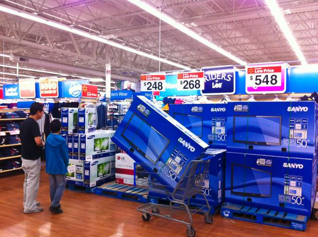 Shoppers search for Black Friday deals at Wal-Mart on Eastern Ave. and Serene, Friday, Nov. 23, 2012.