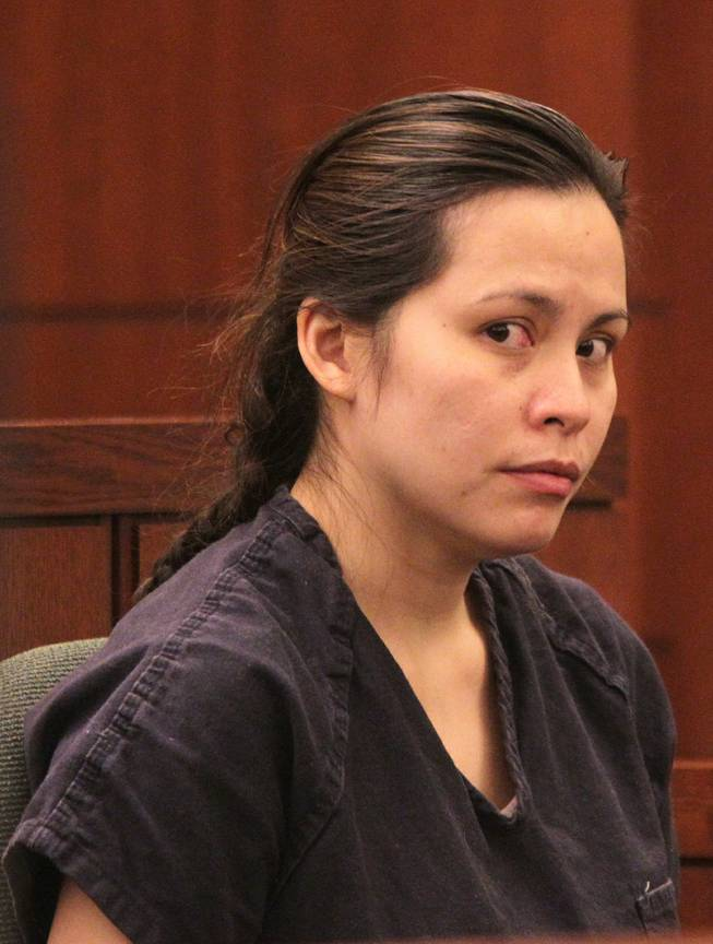 Sounilak Ouchlaeun appears in court at the Regional Justice Center in Las Vegas on Tuesday, November 27, 2012. Ouchlaeun is charged with murder with a deadly weapon for running over her boyfriend with a car.