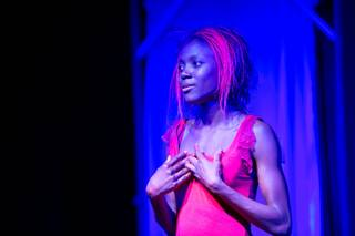 Wassa Coulibaly performs at Baobab Stage during dress rehearsals for her original work