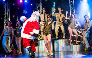 "New York-New York has decked Broadway Theater's halls with the first-ever, family-friendly holiday show ""Christmas in New York."" The limited-time ..."