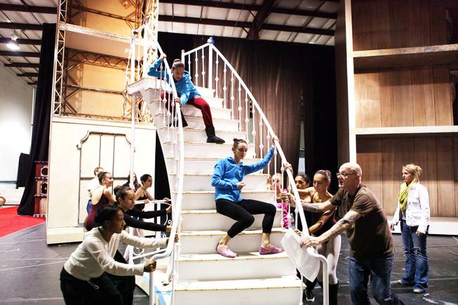 "Nevada Ballet Theatre rehearses for ""The Nutcracker"" at Blue Line Studios in Las Vegas on Thursday, November 30, 2012."