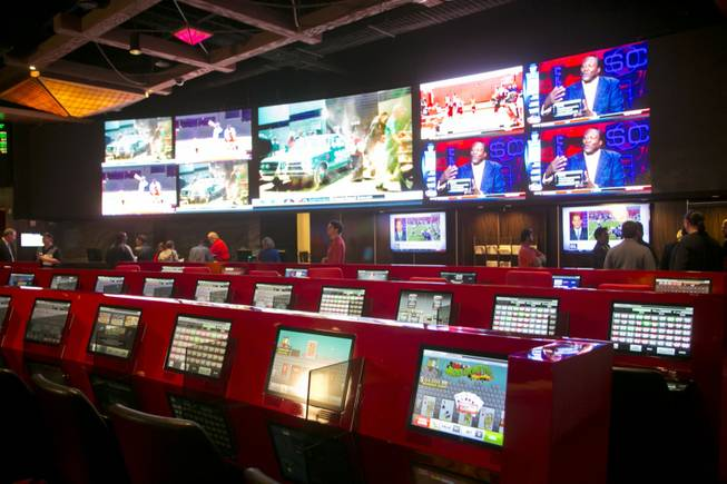 The Cantor Sports Book at Silverton held its grand opening Thursday, Nov. 29, 2012. The 2,000 square-foot sports book features a 2.35 million LED pixel video screen that can show four feature sporting events at once.