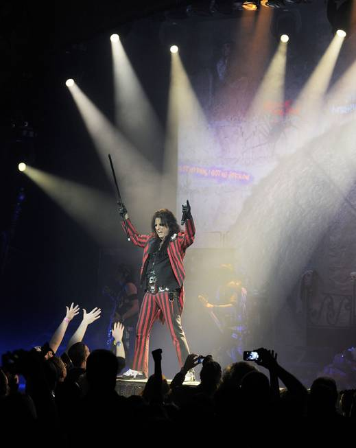 Alice Cooper performs in the Pearl at the Palms on ...