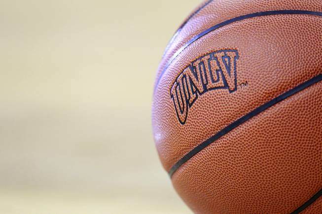 A basketball is seen during UNLV's game against Hawaii Saturday, Dec. 1, 2012 at the Thomas & Mack. UNLV won 77-63