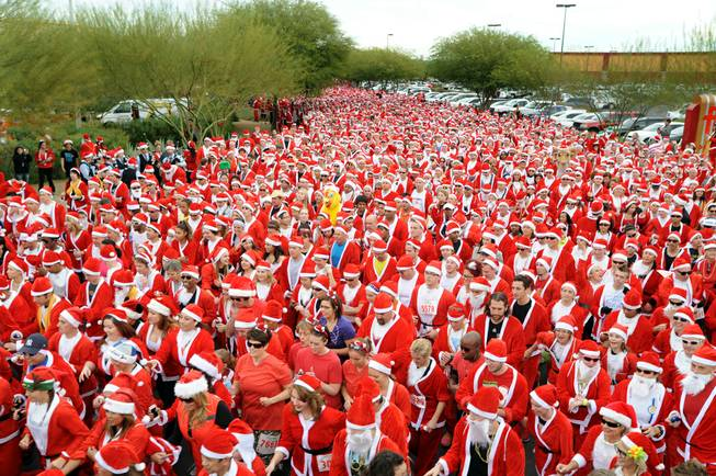 The Great Santa Run at Town Square on Saturday, Dec. 1, 2012.