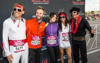 The 2012 Zappos.com Las Vegas Rock N' Roll Marathon included celebrities Nikki Reed and Paul McDonald on Sunday, Dec. 2, 2012.