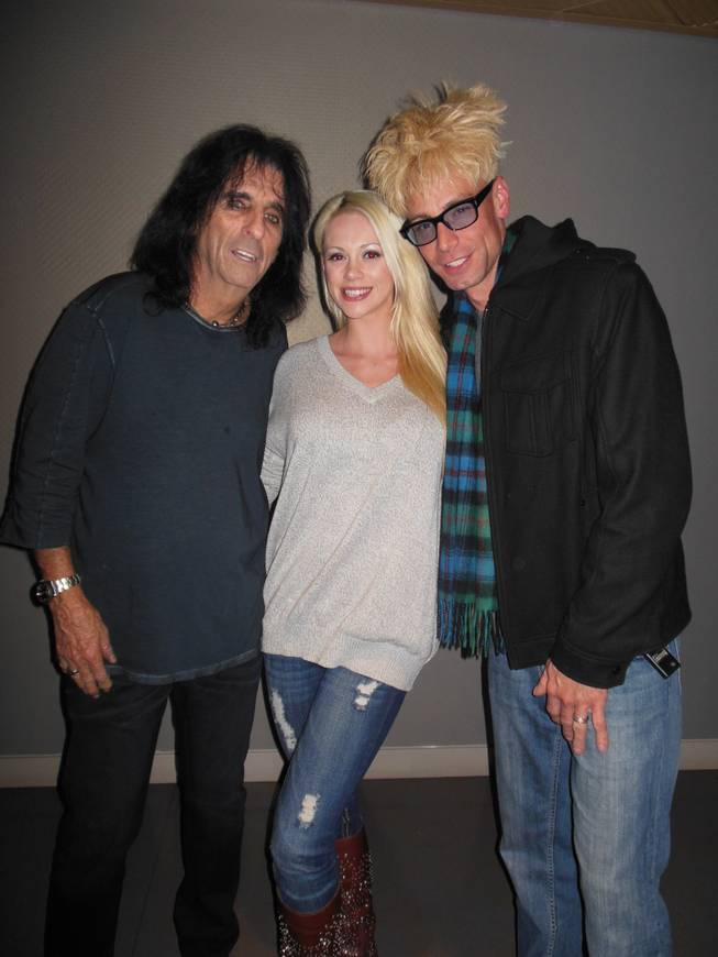 Alice Cooper, Chloe Crawford and Murray Sawchuck backstage at the Pearl at the Palms on Friday, Nov. 30, 2012.