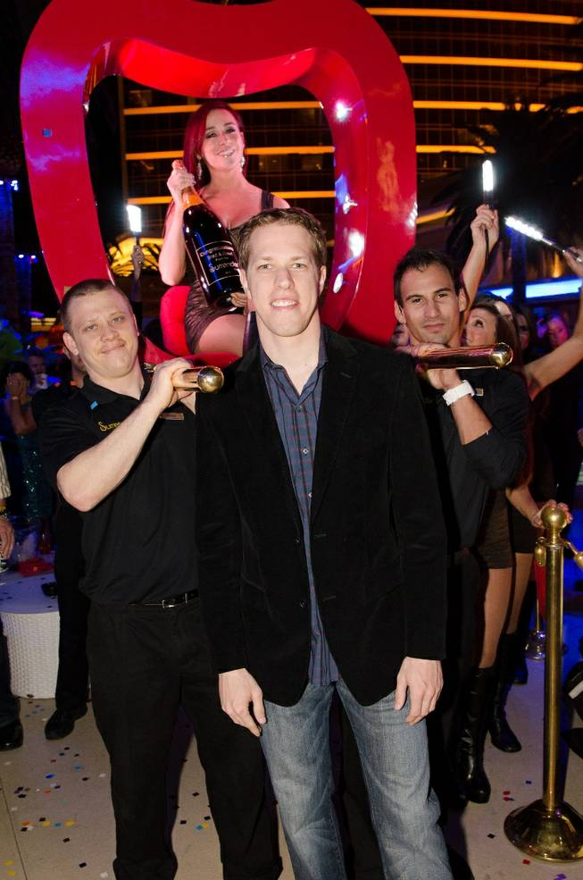 Brad Keselowski at Surrender in the Encore on Friday, Nov. 30, 2012.