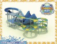 A rendering of the Beach Blanket Banzai attraction for the Cowabunga Bay Las Vegas water park.