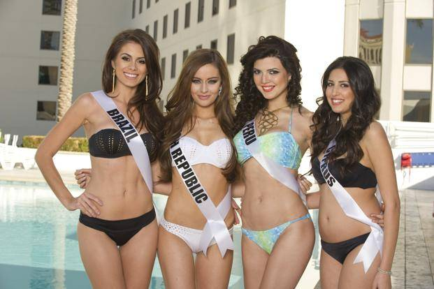 2012 Miss Universe Pageant registration, makeup and fittings in Las ...