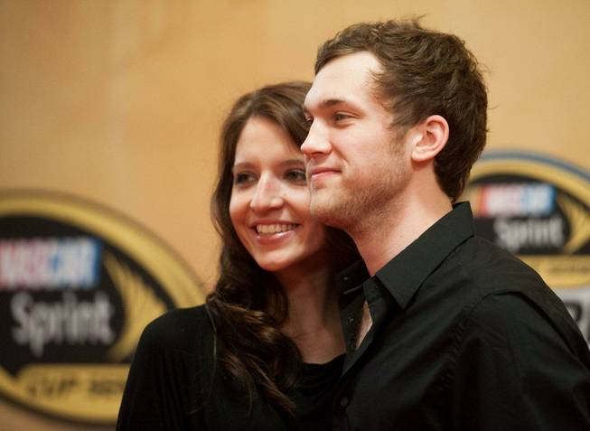 Phillip Phillips arrives with Hannah Blackwell on the 2012 NASCAR Sprint Cup Series Awards red carpet Friday, Nov. 30, 2012, at Wynn Las Vegas.