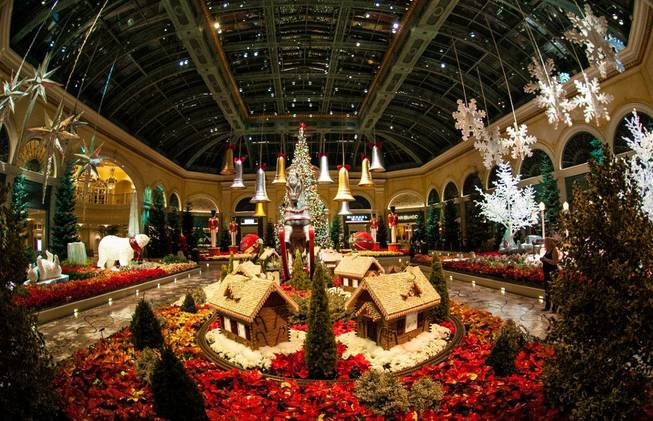 The Bellagio's annual holiday display photographed on Sunday, Dec. 2, ...