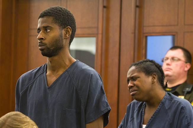 Markiece and Dina Palmer, the couple accused of killing 7-year-old Roderick Arrington, appear in court at the Regional Justice Center Thursday, December 6, 2012.