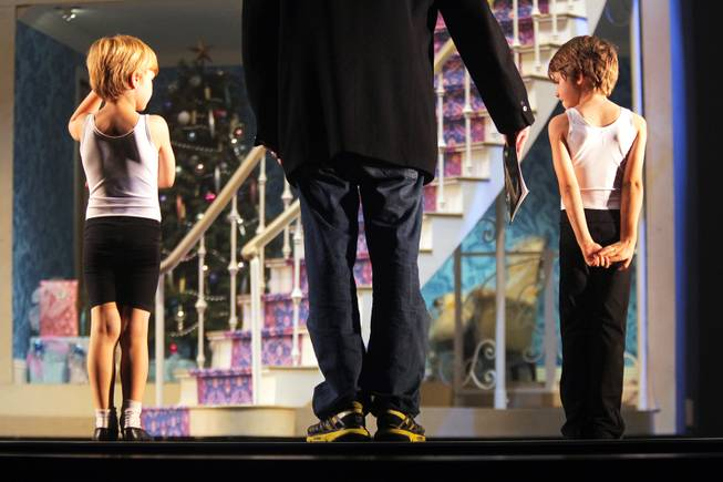"Artistic director James Canfield gives direction to young dancers during a rehearsal for Nevada Ballet Theatre's ""The Nutcracker"" at the Smith Center in Las Vegas on Thursday, December 6, 2012."