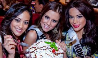 The 2012 Miss Universe Pageant contestants at Buca di Beppo on Thursday, Dec. 6, 2012.