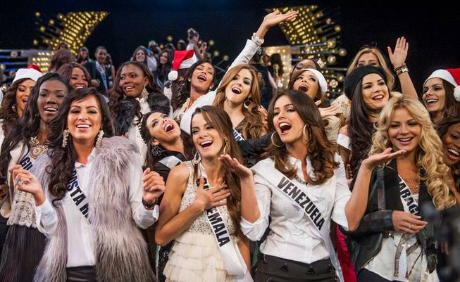 The 2012 Miss Universe Pageant contestants at