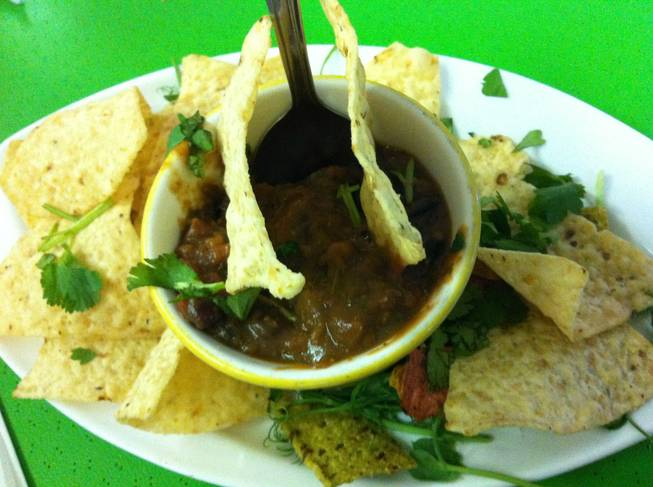 """Chef Myra's Signature Bean Salsa"" from Pura Vida."