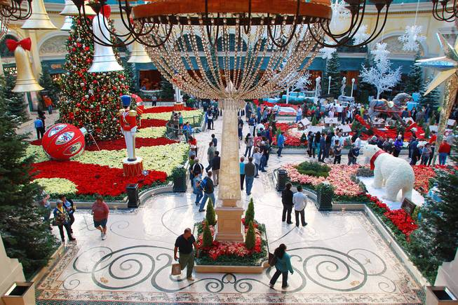This is a view of the holiday display at the Bellagio Conservatory & Botanical Garden Friday, Dec. 7, 2012.